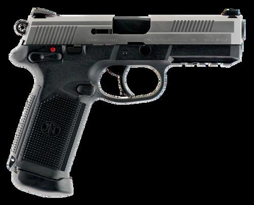 "FN LE FNX-45 45 Automatic Colt Pistol (ACP) Single/Double 4.5"",  Black Interchangeable Backstrap Grip Black Polymer Frame Stainless Steel Slide,  15 rd"