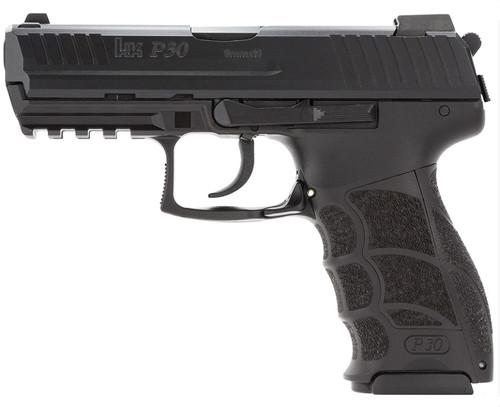 "HK P30, Semi-automatic, DA/SA, 9mm, 3.85"" Barrel, Polymer Frame, Black, 17Rd, 2 Magazines"