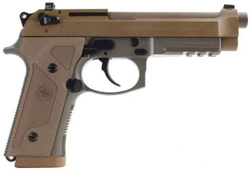 "Beretta M9A3 9mm Flat Dark Earth 5"" 17 Round Safety / Decocker"