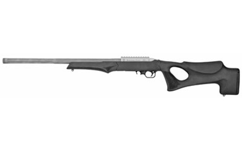 "T/C Arms Performance Center T/CR22 22 LR Picatinny Rail 20"" Black Hogue OverMolded Thumbhole Stock Satin Stainless"