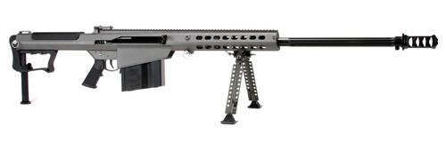 "Barrett M107A1 50 BMG, 29"" Barrel, Gray Cerakote Finish, Synthetic Stock, 10Rd, Front/Rear Flip Sights, 10Rd, 1 Magazine, Bipod, Pelican Hard Case"