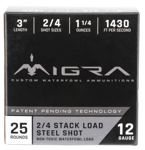 "Migra Combinational Weekender 12 Ga, 3"", 1 1/4oz, 2-BB Shot, 25rd Box"
