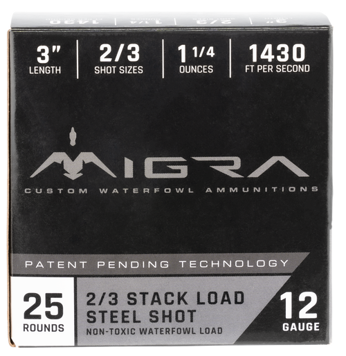 "Migra Combinational Weekender 12 Ga, 3"", 1 1/4oz, 2-3 Shot, 25rd Box"
