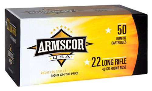 Armscor, Ammo, 22 LR, 40Gr, Solid Point, Standard Velocity, 50rd Box
