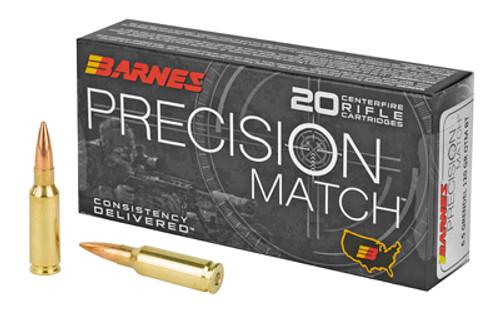 Barnes Precision Match 6.5 grendel 120gr, Match Burner OTM BT, 20rd Box