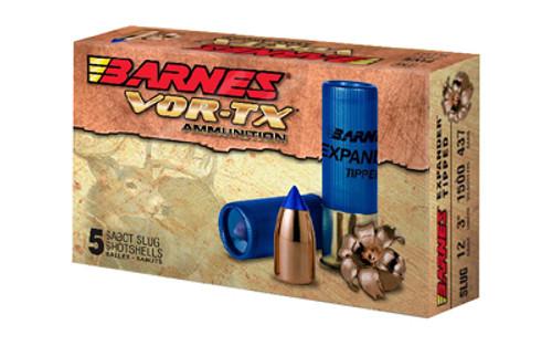 """Barnes VOR-TX Shotshell 12 Ga, 3"""", 438gr Expander Tipped Slug, 5rd Box"""