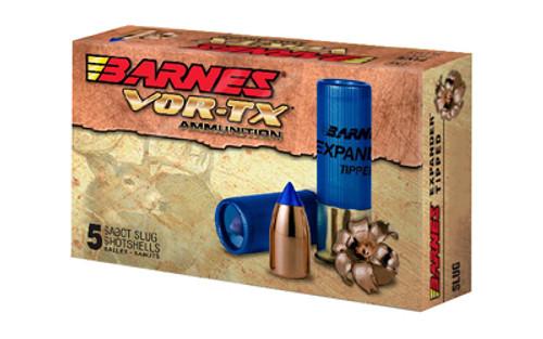 """Barnes VOR-TX Shotshell 20 Ga, 3"""", 250gr Expander Tipped Slug, 5rd Box"""