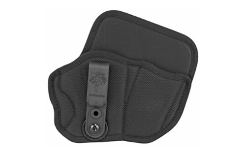 Desantis M89 Inner Piece 2.0 IWB, Integrated Mag Carrier, Colt Officer, Glock 42/43, Kahr 9mm/40, Kel-Tec P11/P40-PF9, Kimber Ultra Carry, Rug LC9/EC9S, Sig P290, SCCY CPX-1/CPX-2, Spring Emp, Ber Nano, Right Hand, Black Nylo