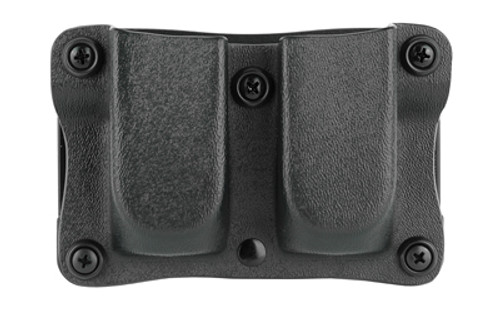 "Desantis Quantico Double Mag Pouch Outside Waistband 9mm, 40 S&W Glock 17,19,22,23,31-38, 1.5"" Belt, Black Kydex"