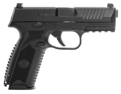 "FN Law Enf, FN 509, Striker Fired, Full Size, 9mm, 4"" Barrel, Polymer Frame, Black, 3 Dot Sights, 17Rd, 3 Magazines"