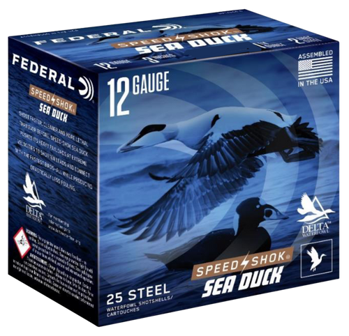 "Federal Speed-Shok Sea Duck 12 Ga, 3"", 1 1/4oz, 2 Shot, 25rd Box"