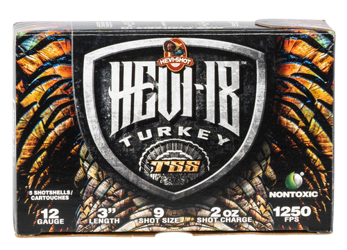 "Hevishot Hevi-18 Turkey TSS 12 Ga, 3"", 2oz, 9 Shot, 5rd Box"
