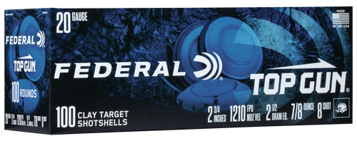 """Federal Top Gun, 20 Ga 2.75"""", #8, 7/8 oz., 100rd box"""