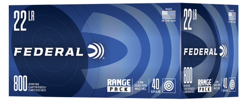Federal Range 22 LR 40gr, Lead Round Nose, 800rd Box