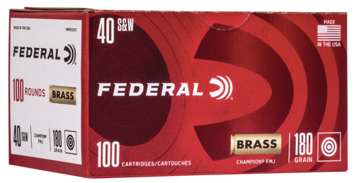Federal Champion Training 40 S&W 180gr, FMJ, 100rd Box