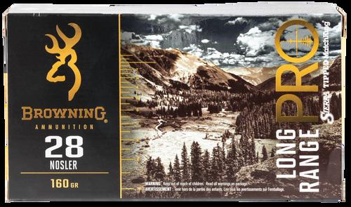 Browning Long Range Pro 28 Nosler 160gr, Sierra MatchKing BTPT, 20rd Box