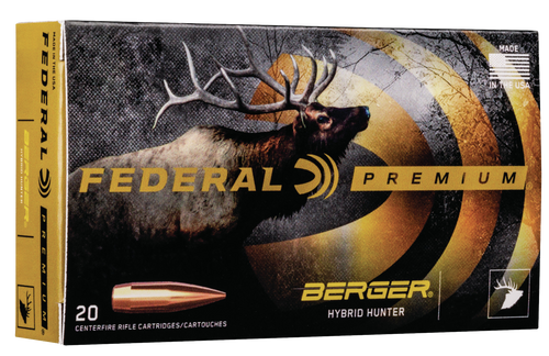 Federal Gold Medal Berger Hybrid Hunter 300 Norma Mag 215gr, Berger Hybrid Hunter, 20rd Box