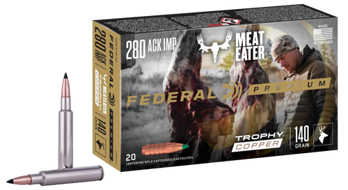 Federal Trophy Copper 280 Ackley Improved 140gr, Trophy Copper, 20rd Box