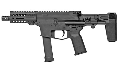 "Angstadt Arms UDP-9 9mm, 4.5"" Barrel, Maxim CQB Brace, Uses Glock Mags, Black, 17rd"