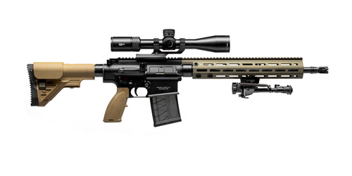 """HK MR762A1 LRP III .308/7.62x51mm, 16.5"""" Barrel, Vortex Viper PSTII, BLK/FDE, 20rd"""