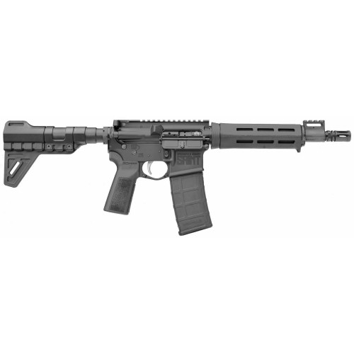 "Springfield SAINT AR-15 Pistol, 223REM/556NATO, 9.6"" Barrel, 1:8 Twist, A2 Flash Hider, M-LOK Pistol Grip, Trinity Force Breach Blade, 30Rd, Mag"