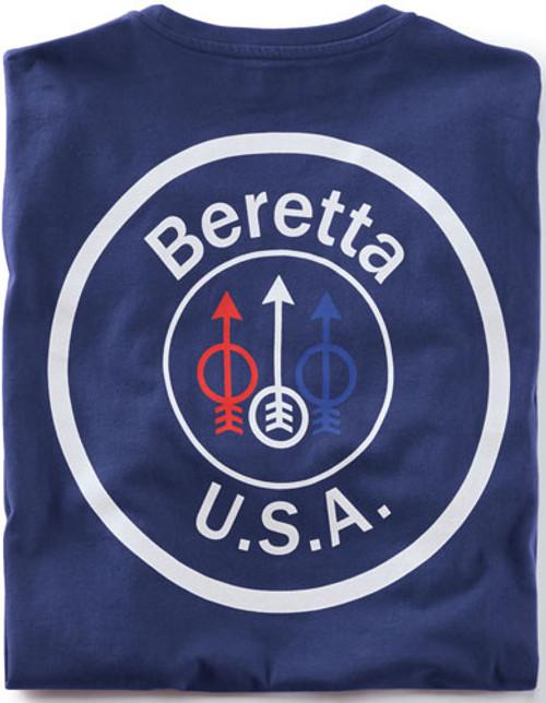 Beretta T-Shirt USA Logo, Small, Navy Blue