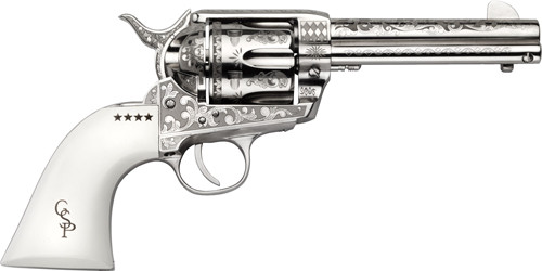 "Cimarron George Patton Engraved Revolver 45 Colt, 4.75"" Barrel, 6rd"