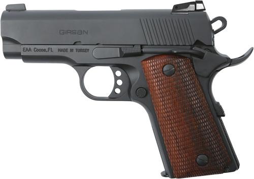 """EAA Girsan 1911 9mm, 3.4"""" Officer, Black"""