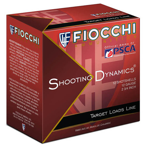 "Fiocchi Shooting Dynamics 12 Ga, 2 3/4"", 1 1/8oz, 8 Shot, 25rd Box"