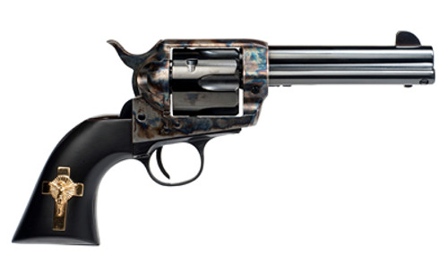 "Cimarron Holy Smoker 45 Colt, 4 3/4"" Barrel, Cross PW, 6rd"