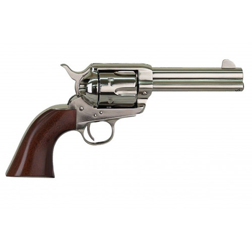 "Cimarron Pistolero 357 Mag, 4 3/4"" Barrel, Walnut, Brass Backstrap, Nickel, 6rd"
