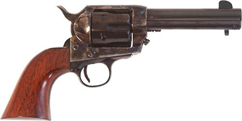 "Cimarron Frontier 45 Colt, 4 3/4"" Barrel, Color Casehardned, Walnut, Blued, 6rd"