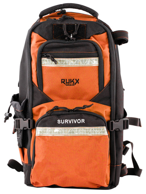 ATI RUKX Gear Survivor Backpack, Stores ATI Nomad In Rear Pocket, Orange