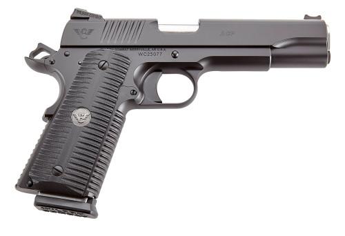 "Wilson Combat ACP 9mm, 5"" Barrel, Fixed Sights, Tactical Bullet Proof Thumb Safety, 10rd"
