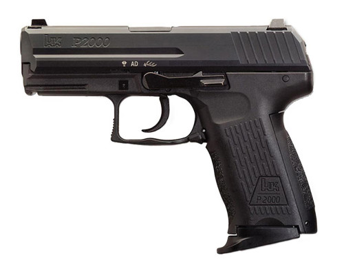 "HK P2000 V3 Compact 9mm, 3.66"" Barrel, Decocker, Adj. 3-Dot Sights, Black, 10rd"