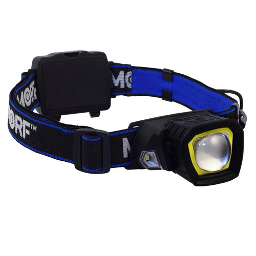 Police Security MORF R230 3-in-1 Rugged Headlamp + Magnetic Flashlight, 4 AAA