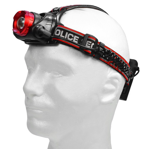 Police Security Lookout Headlamp 4AA, Batteries Included