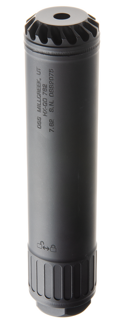 OSS HX-QD 762 Suppressor, Torque Lock, Full-Auto Rated, Black
