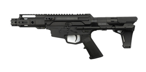 "MCM Firearms DS9-S Side Charging Pistol, 9mm, 4.5"" Barrel, MP5 Magazine, Black Cerakote"