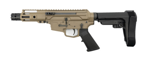 "MCM Firearms DS9-S Side Charging Pistol, 9mm, 5"" Barrel, MP5 Mag, FDE Cerakote"
