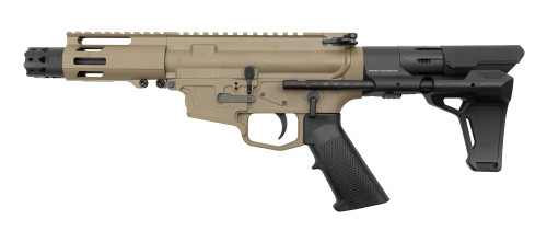 "MCM DS9-S 9mm, 5"" Barrel, MP5 Mag, FDE Cerakote, Strike Ind. PDW Brace"