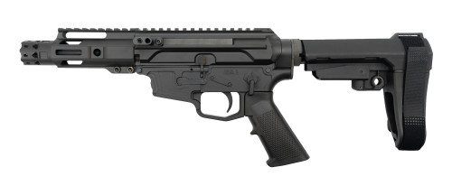 "MCM Firearms DS9-S Side Charging Pistol, 9mm, 5"" Barrel, MP5 Mag, Black Cerakote"