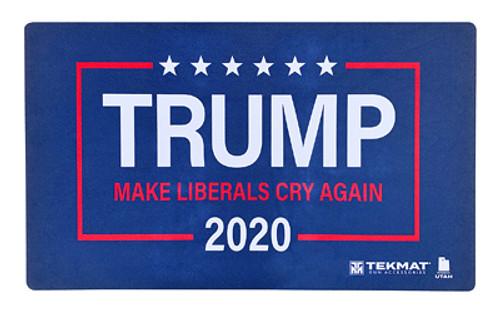 """Tump Door Mat """"Make Liberals Cry Again"""" - 25""""x42"""", Blue Color"""