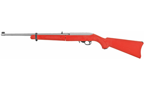 "Ruger 10/22 Takedown .22LR, 18.5"" Barrel, Red/SS, 25rd"