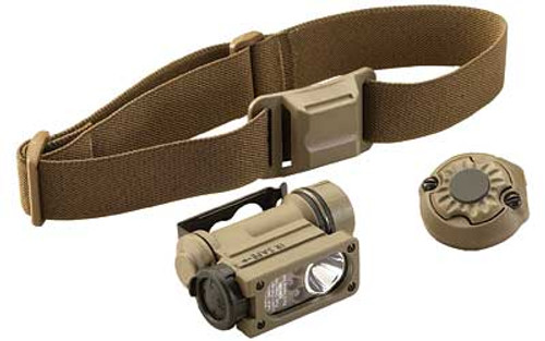 Streamlight Sidewinder Compact  II Military Model  - White, Red, Blue, IR Leds Includes Helmet Mount, Headstrap and Cr123a Lithium Battery - Clam