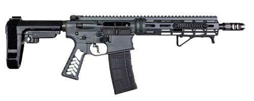 "Falkor Phantom AR-15 Pistol 300 Blackout, Grey, 10.5"" Barrel SBA3 Brace 30rnd Mag"