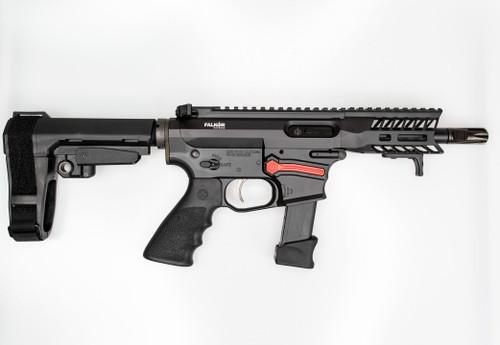 Falkor FG-9 AR-15 Pistol, 9mm, Black, SBA3 Brace, Glock 17 Type Magazine