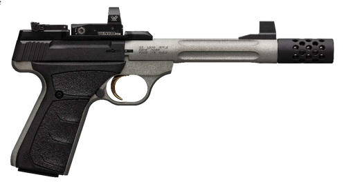 "Browning Buck Mark Lite Competition 22 LR 5.90"",  Matte Gray Black Aluminum Alloy Slide Black Ultragrip FX Grip with Vortex Venmon Red Dot,  10 rd"