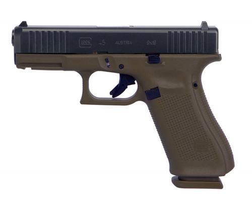 """Glock G45 9mm, 4.02"""" Barrel, Evolved Tactical Patriot Brown Coating, 17rd, Front Serrations"""