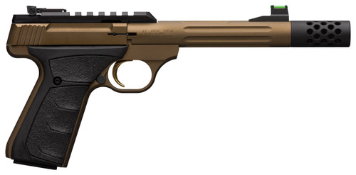 "Browning Buck Mark Plus Speed .22 LR, 5.9"" Barrel, Burnt Bronze Cerakote, 10rd, Ultragrip FX Grip"